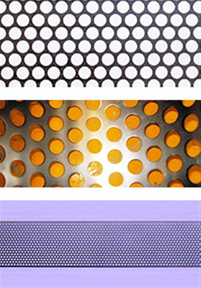 Perforated metal with round holes